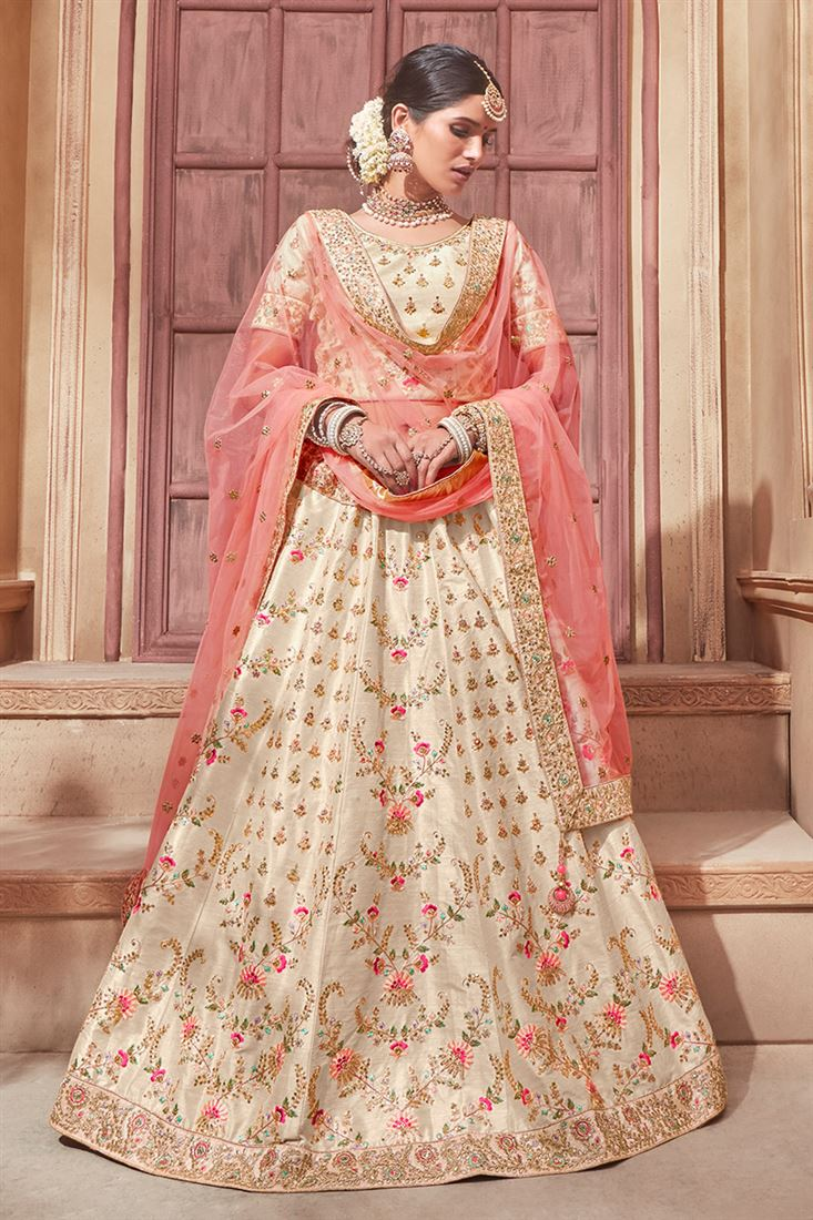2f03083f34 Noor Ravishing Beige Colour Banglori Silk Fabric Bridal Wear ...